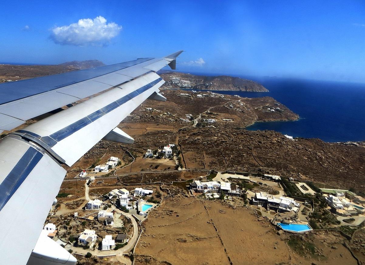Lot samolotem nad Grecją